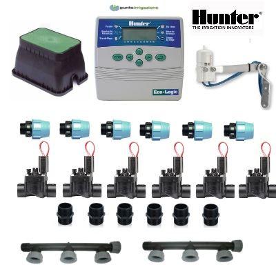 Kit irrigazione kit hunter 6 zone for Elettrovalvole per irrigazione